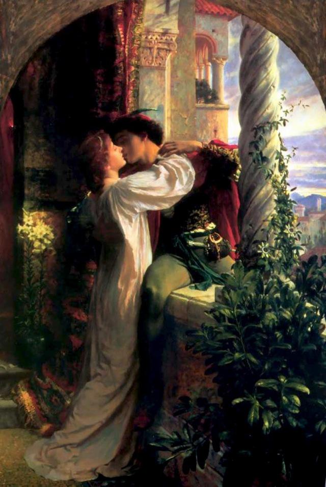 Romeu e Julieta, por Frank Dicksee, 1884.
