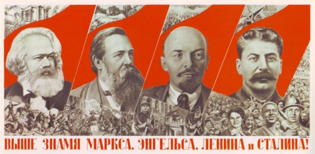 Marx, Engels, Lenin, Stalin.