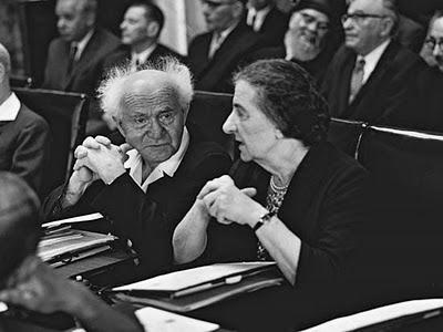 Ben Gurion e Golda Meir, dois russos que foram primeiro-ministro em Israel.