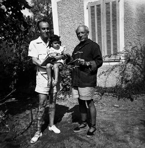 Cicero Dias-Picasso-Sylvia-a-Vallauris-1952-