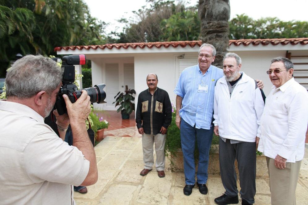 Aos 88, Fidel é fotografado por Lula. Foto: Ricardo Stuckert/ PR (24/02/2010)