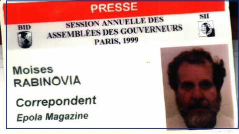 """Esta vale  pela graça: virei """"Rabinovia"""", e a revista para a qual trabalhava, Epola Magazine."""