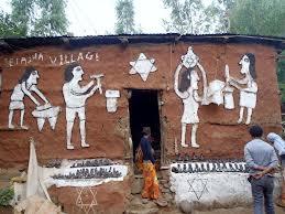 Casa de família falasha, na Etiópia (foto: www.mikewallach)