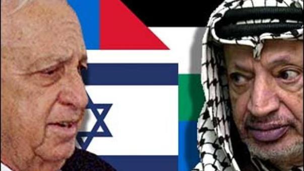 Inimigos mortais, depois parceiros em busca da paz (Foto: CBS)