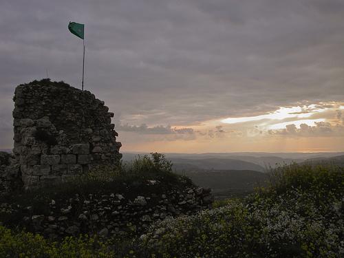 O Chateau Beaufort, de onde a OLP disparava contra o Norte de Israel.