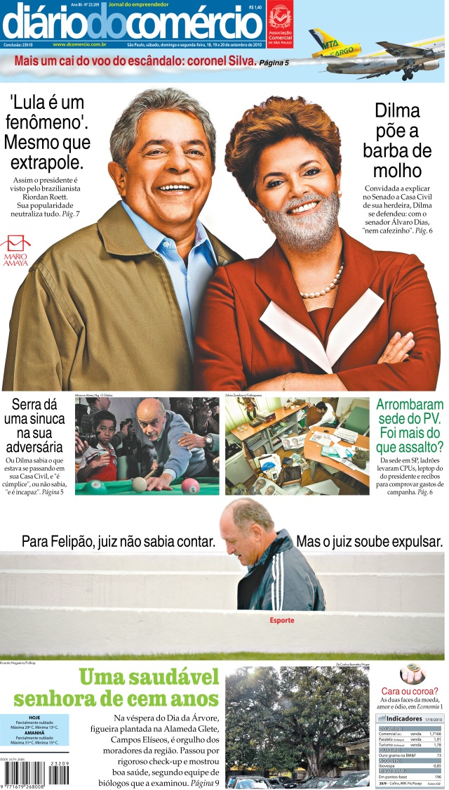 A barba de Lula na Dilma foi feita por Mario Amaya -editor, fotógrafo, artista, ciclista e, mais que tudo, amigo.