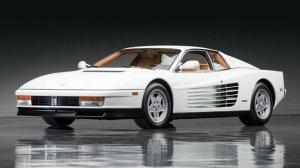 Testarossa da Ferrari. O de Ben Johnson era preto.