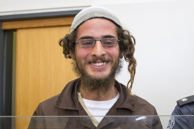 Meir Ettinger, o primeiro suspeito preso. (AFP PHOTO / JACK GUEZ)