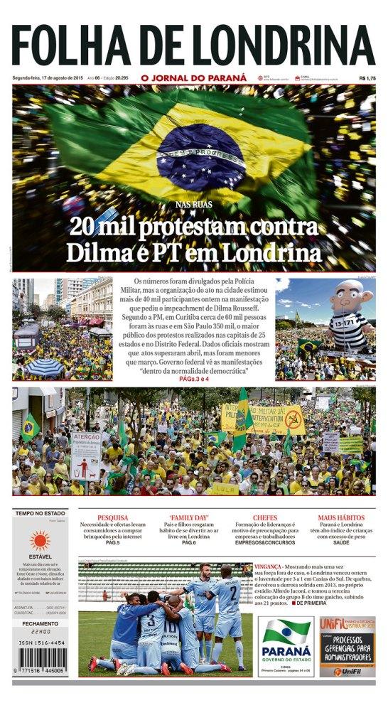 Capas do domingo de protesto (4/6)