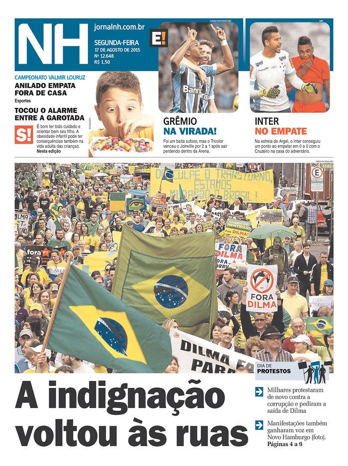 Capas do domingo de protesto (5/6)
