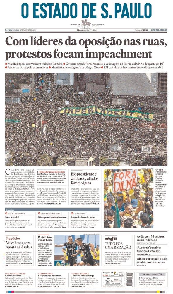 Capas do domingo de protesto (6/6)
