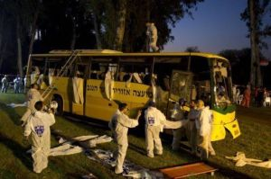 Outro ataque: o ônibus viajava de  Beersheva a Eilat.